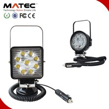 CE,FCC,ROHS,IP68 approved magnetic base new 27w car led tuning light led work light