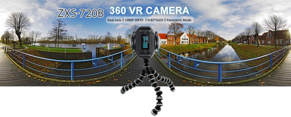 VR Camera 720 degree panoramic dual lens 360 video camera