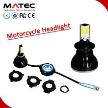 Hotsale top quality led motorcycle lights 24w 2400lm H4 H6 H7 led motorcycle 6v light
