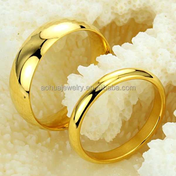 Newest Design Couple Rings Wedding Ringgold Ring For Couples