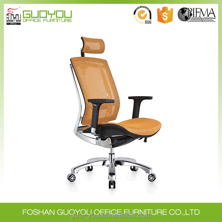 2017 CIFF newest design ergonomic swivel computer office chair executive president mesh office chair with aluminum base BIFMA