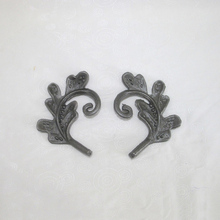 cast leaves, cast steel ornaments, decorative fence ornaments