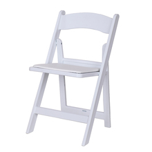 Factory Resin white foldable design, plastic wedding folding chair for bride show