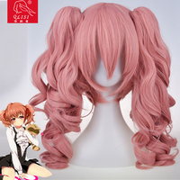 Japanese anime costumes cosplay store pink curly hair wigs Chinese online wholesale shop