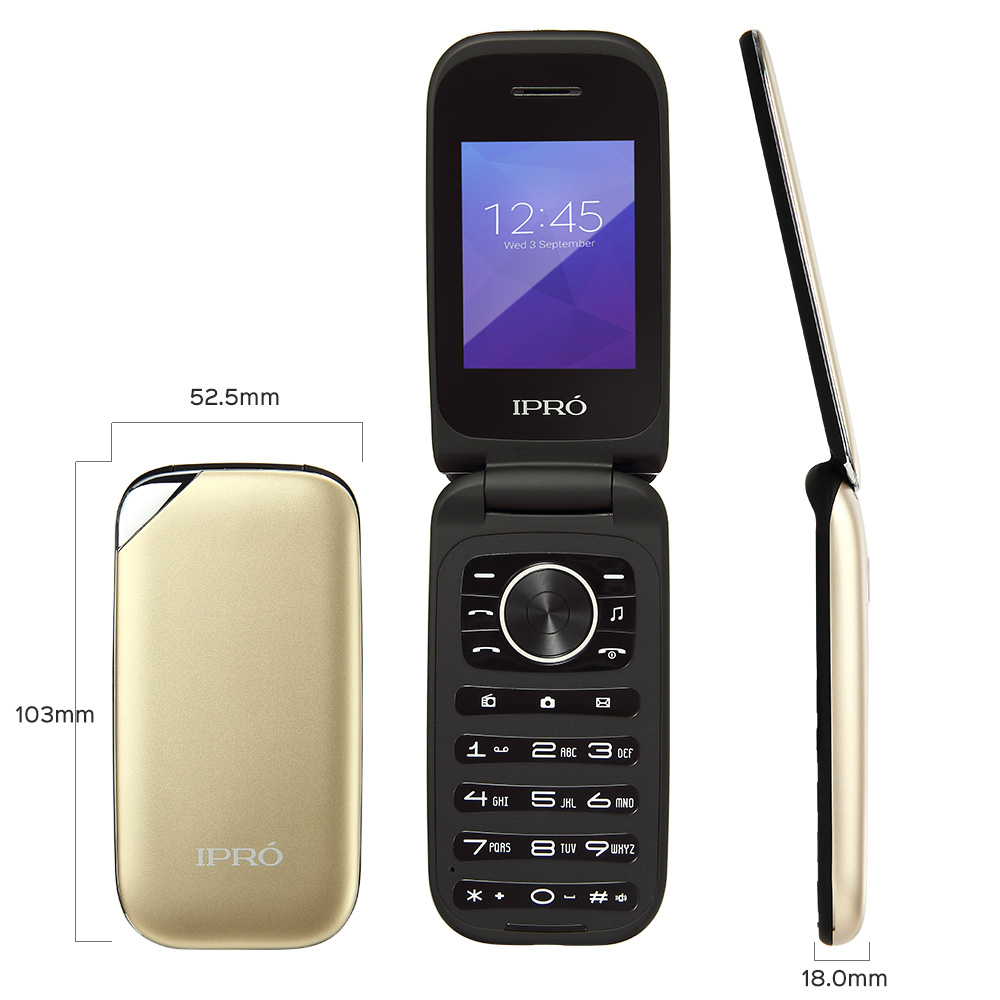 IPRO i324E 2G flip dual sim big button senior phone Mobile Phone Price List