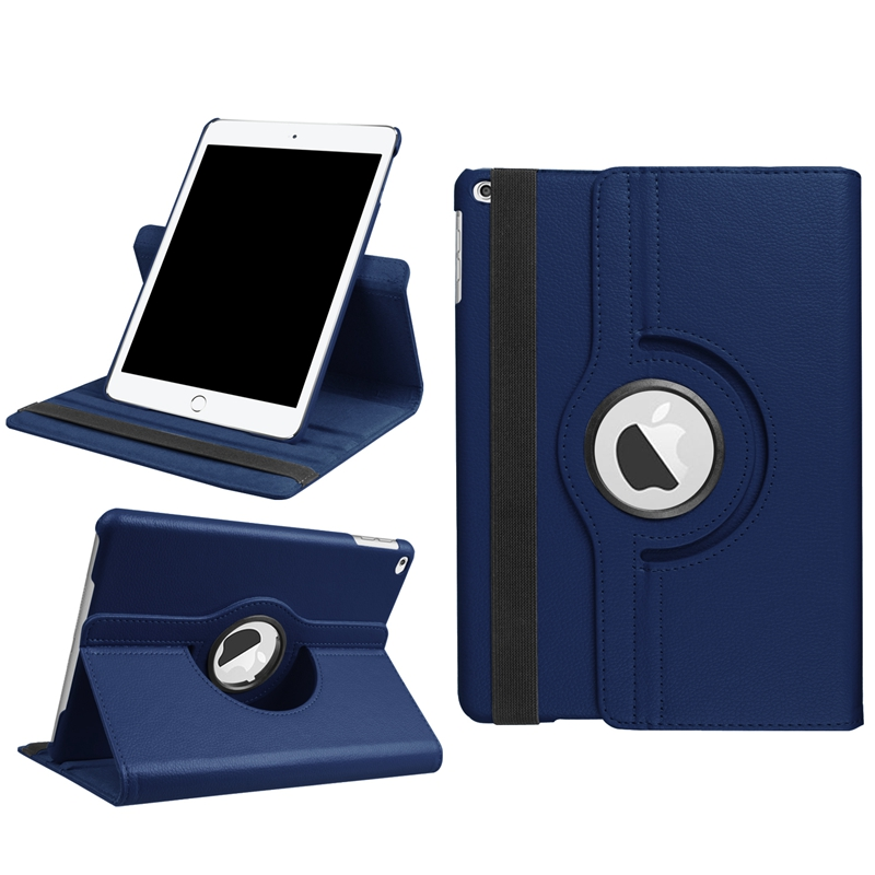 For Apple iPad 9.7 Case 2017 New 360 Degree Rotating Cover