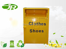Large Capacity Galvanized Steel Clothing Donation Collection Bin