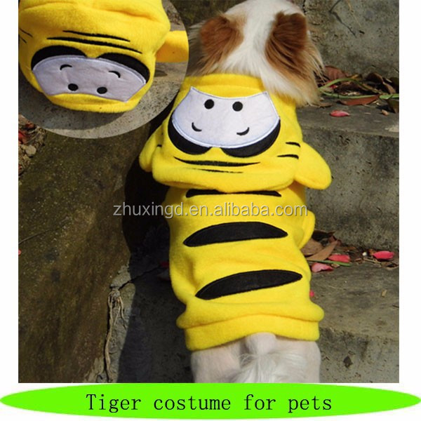 Tiger costume for pets fashion petshop