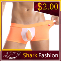 Shark Fashion latex panties for men nylon elastane boxer briefs underwear