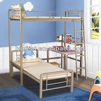metal bed with wood post