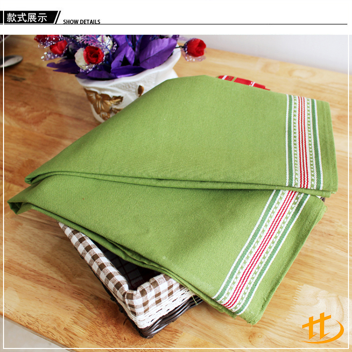 High Quality Stylish Colorful smart microfiber fill Cotton Stripe Design Pattern Tea Towel
