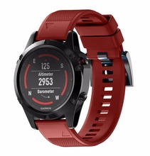 Quick Fit For Garmin Fenix 5 5X Silicone Watch Band WristStrap