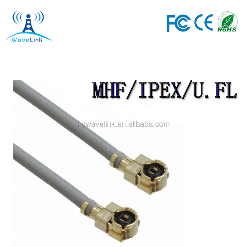 (High Temperature Cable/RF Coaxial Pigtail Cable)RF1.13 UFL MHF IPEX Cable Assembly For WiFi 4G LTE Antenna