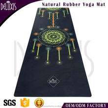 China supplier and colorful custom printed natural rubber yoga mat