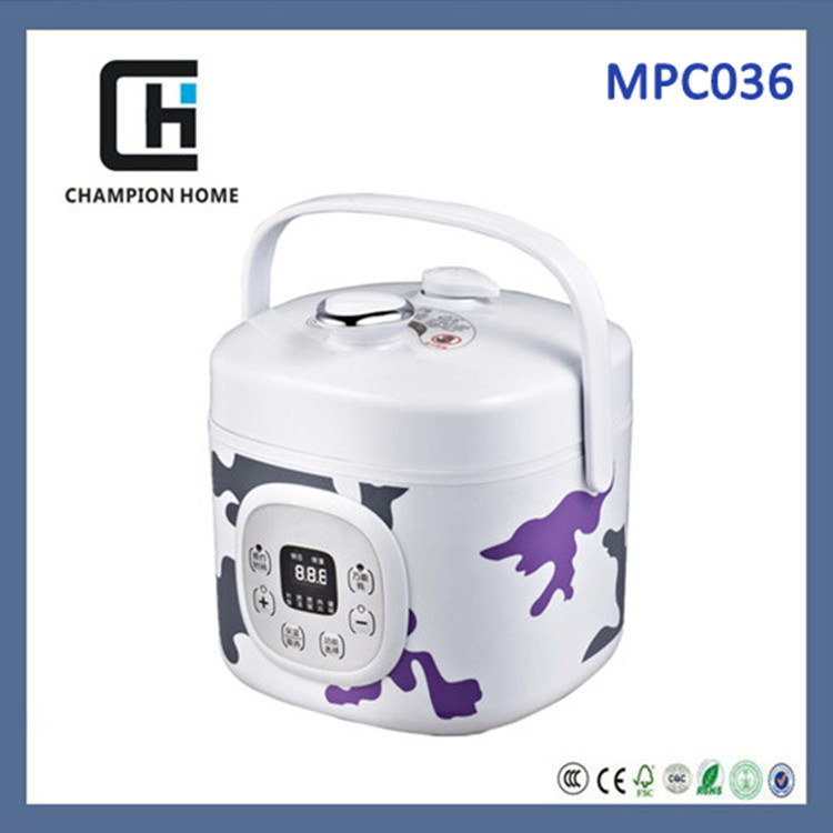 2L multifunction mini cute portable practical electric pressure cooker for Japan market