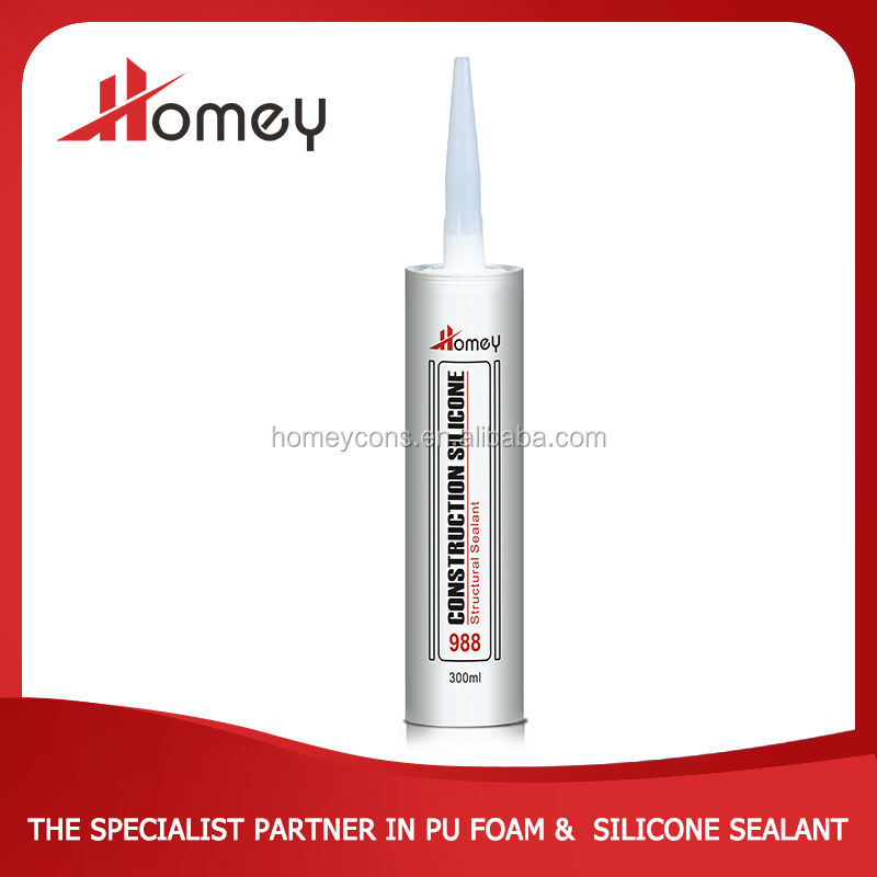 100% outdoor waterproof anti-fungus acetic silicone sealant for glass