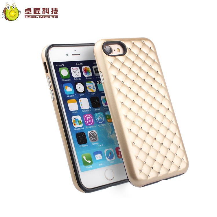 New design temperature sense full diamond case for iphone 8,for iphone 8 case tpu pc custom