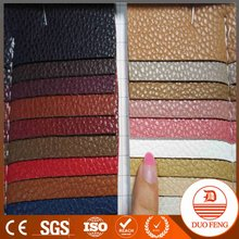 wholesale pu faux leather fabric for shoe/bag material lady handbag leather