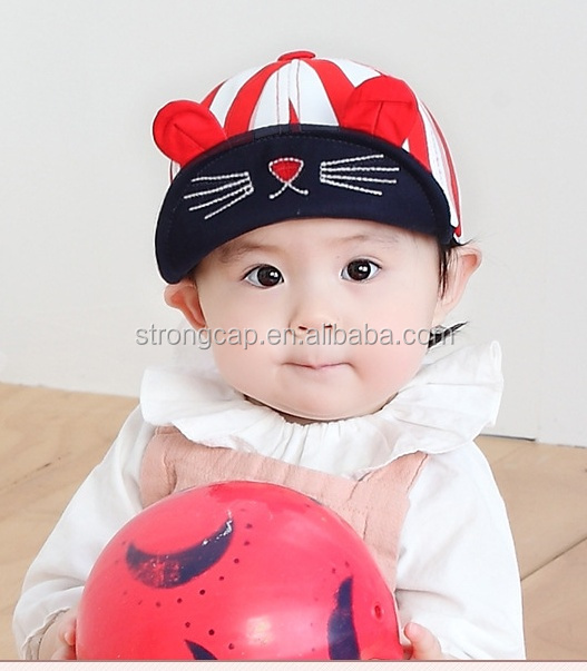 Soft flat fashion peaked cap for kids cotton baby hats