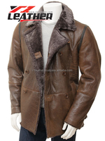 Superior Long Raccoon Dog Fur Coat with Leather Wholesale Price for men