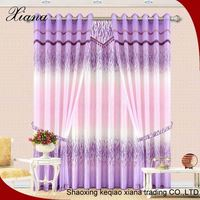 Modern plain solid sheer voile window curtain with loops, ready made sheer voile silck curtains