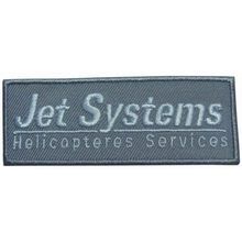 Helicopter service embroidery patch