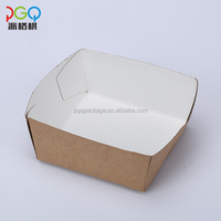 Disposable custom fried food paper tray for take away