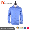 Royal blue solid color cotton satin High Quality Shirts