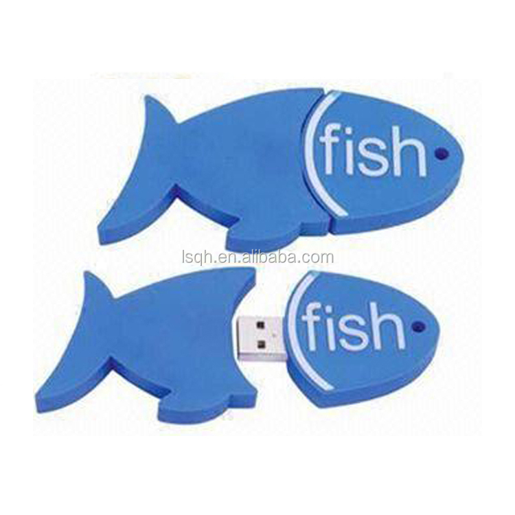 Promotional Gift PVC fish usb flash drive
