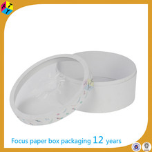 white window best seller round shaped paper hat box