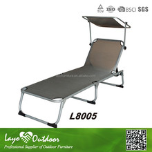 Alum/Steel Frame Folded Lounge Chair Chaise Lounge with Powder Coating Outdoor Furniture