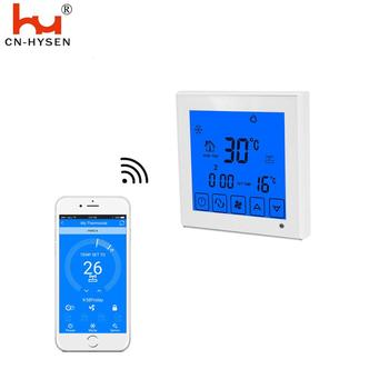 Electronic touch screen thermostat room temperature Switch Wifi Controlled by IOS Android Phone APP