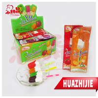 HALAL hard candy lollipop with glow/ fluorescent lighting stick fruit lollipop candy