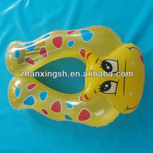 shanghai zhanxing high quality PVC inflatable baby swimming aids neck float ring in hot sale