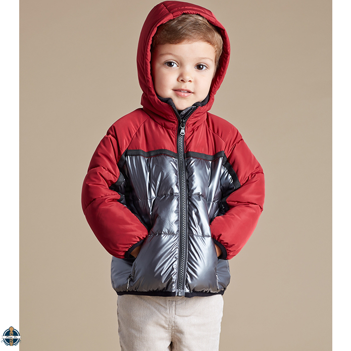 T-BC009 Boy Asian Fashion Winter Thicker Thermal Hit Color Stitching Jacket Coat