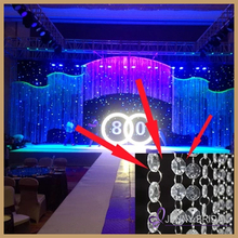 Crystal 01 white hanging crystal wedding stage decoration crystal pillars for wedding decoration