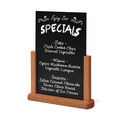Cheap sale tabletop wooden menu holder with blackboards for regular chalk