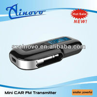For iPhone5 mini Car FM transmitter and wireless dual frequency fm transmitter