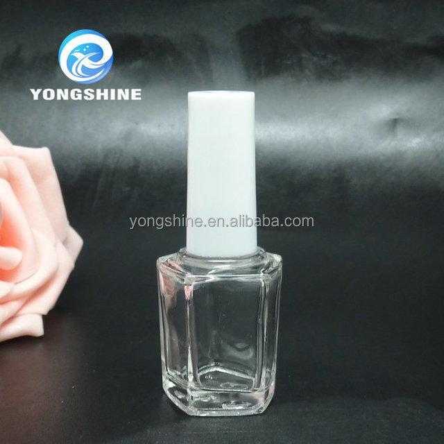 10ml empty high quality nail polish hexagon glass bottle with screw cap wholesales