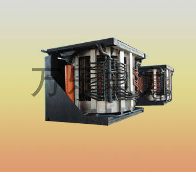 4T medium frequency cast iron tilting smelting machine