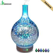 Factory humidifier ultrasonic aromatherapy 3D glass essential oil arom diffuser