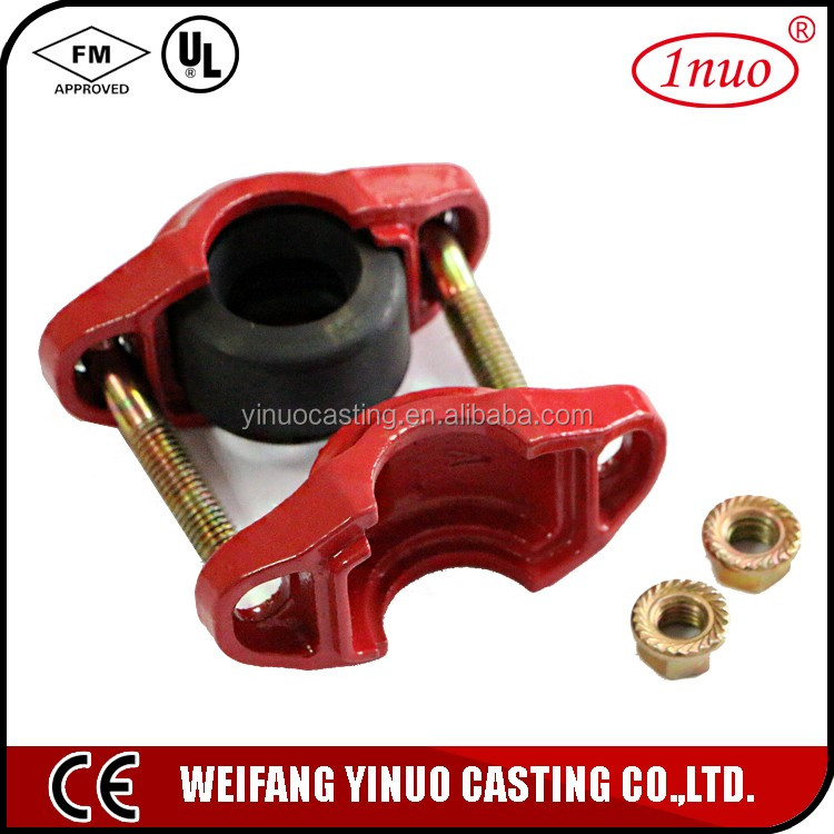 grooved rigid coupling pipe fittings fire hose coupling