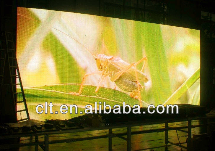 full-color outdoor high-resolution waterproof P16mm LED curved advertising billboard