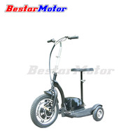 CE-approved three wheel electric scooter, 3 wheel electric scooter with optional seat, zappy electric scooter