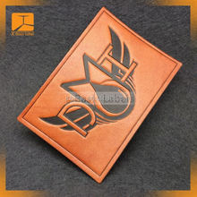 Custom pu leather labels / embossed leather logo