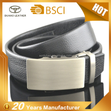 Latest Design 3.5cm Men Leather Belt Automatic Ratchet Click Belt