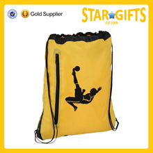 china custom durable large capacity football club drawstring bag