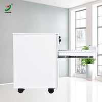 China produced stackable drawers plastic mobile pedestal with 3 drawer