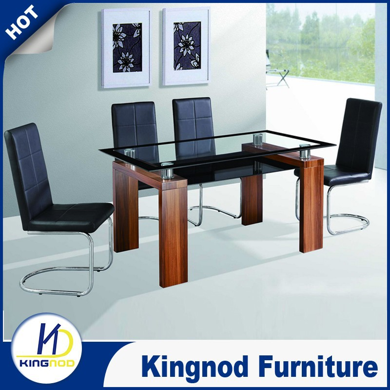 468 Seater Dining Table Set Modern Glass Wooden Dining Sets