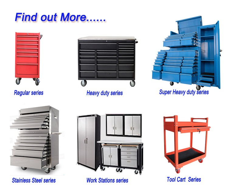 27'' 16 Drawers light Duty Steel Rolling movable Tool chest Cabinet